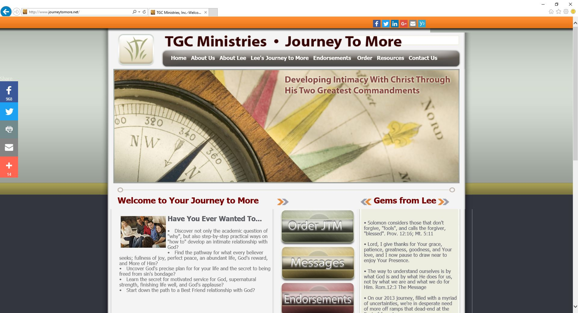 Journey to More Website a Your Ministry Site website production.